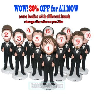 Personalized Bobble Heads Cheap Groupon Groomsmen Gifts 30% off