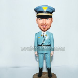 Military Officer With Hat Custom Bobblehead Doll