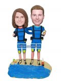 Customized Couple bobbleheads Doll Man And Woman standing on the beach