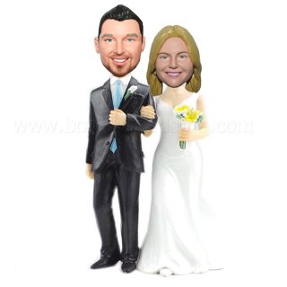 Classic Pose Wedding Caketopper Bobble head Dolls