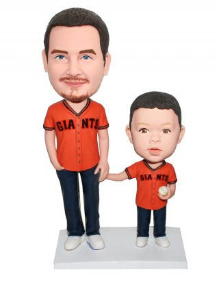 Custom Bobblehead Baseball Fan Farther And Son