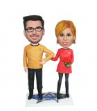 Custom Bobble Heads Star Trek Couple Figurines