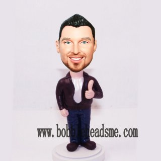 Custom Thumbs Up Bobble Head Doll