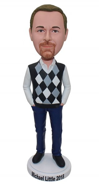Cardigan Man Bobble head