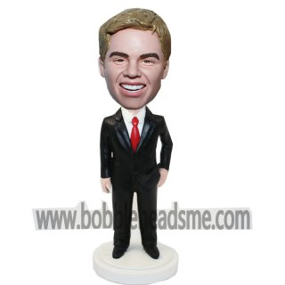 Hand On Hip Male Custom Businessman Bobbleheads