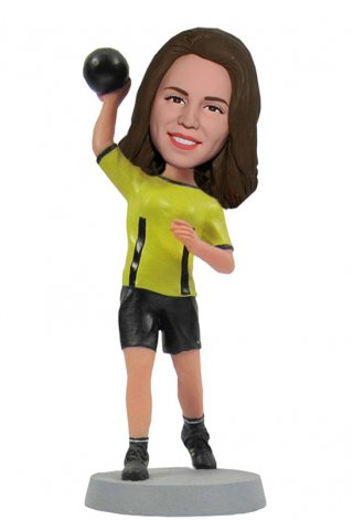 Custom Shot Put Bobble Heads Sports