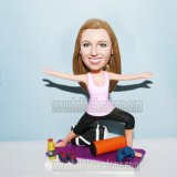 Female Yoga Bobblehead
