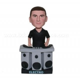 DJ Male At The Electro Table Custom Bobbleheads