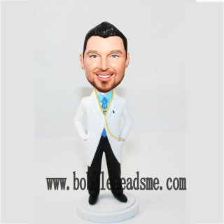 Custom Hands In Lab Coat Male Docor Bobblehead
