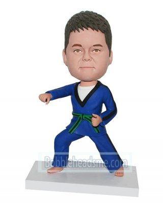 Custom Bobblehead Male In Judo Doll