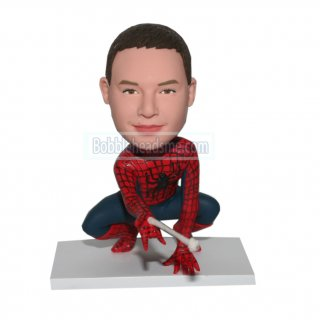 Custom Costume Bobble Head Spiderman Shoot The Spider-web