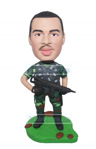 Custom Army Bobblehead