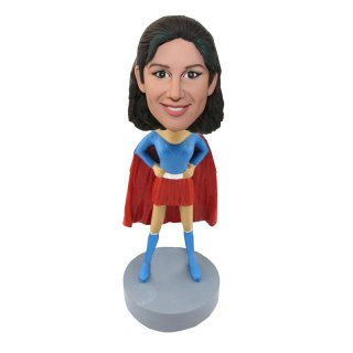 Superhero Woman Akimbo Custom Bobblehead