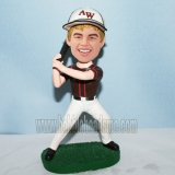 Custom Swinging Baseball Bat Male In Hat Bobblehead