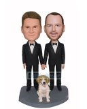 Make A Two Grooms Holding Hands Bobbleheads