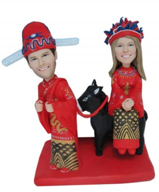 Custom Chinese Wedding Bobbleheads