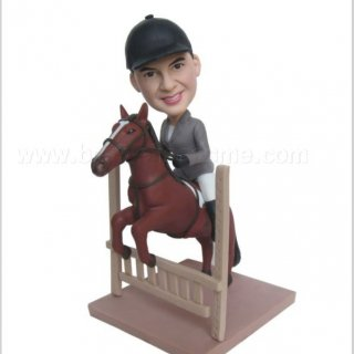 Jockey Male Railing Bobblehead Dolls