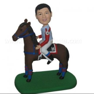 Male On Horse Custom Bobblehead Doll