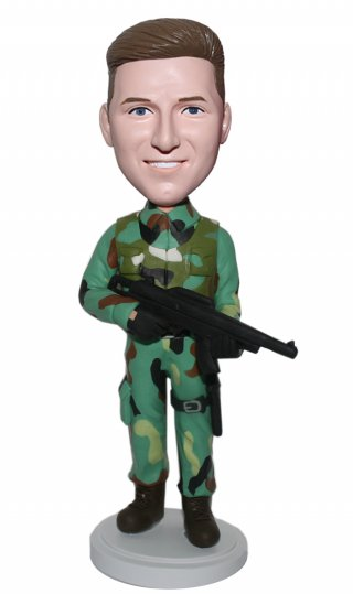 Custom Soldier Bobblehead Military Bobble Heads