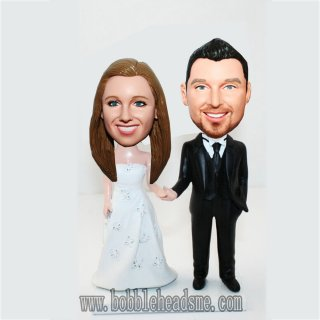 Soulmate Wedding Groom And Bride Customized Bobblehead
