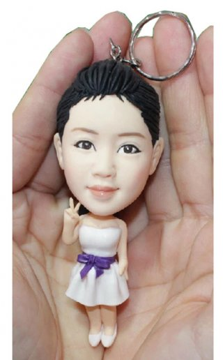 Custom Personalized Keychains Women Doll