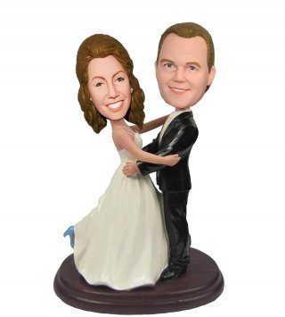 Custom Bauble Head Wedding Cake Toppers