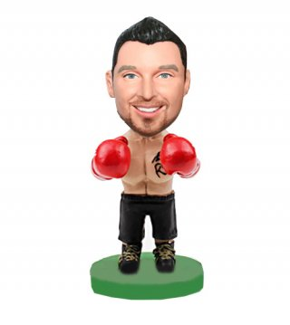 Thick Boxer Male In Gloves Custom Bobblehead Doll