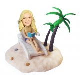 Customized Bobbleheads Beach Sunbathing Birthday Gifts For Her