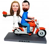 Custom Married Motocycle Wedding Bobbleheads