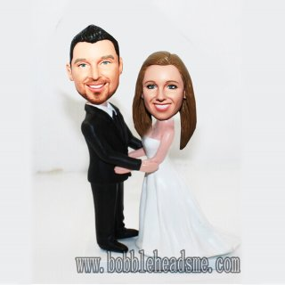 16% Off Custom Bobbleheads Bride And Groom Holding Each Other
