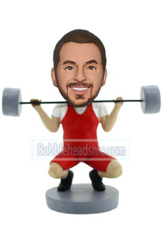 Custom Sport Bobbleheads Muscle Male Lifting Weight