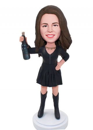 Custom Bobble Head Wine/Champagne Dolls