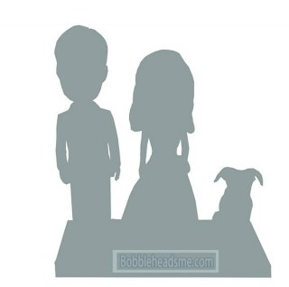 Fully Custom Couple And Dog Wedding Couple bobblehead