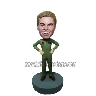 Custom Airman Flight Suit Bobbleheads Air Force Doll
