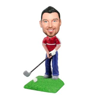 Posing to Swing The Golf Personalized Bobbleheads