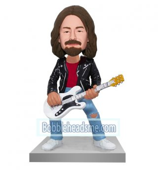 Customized Bobblehead Doll Male Guitarist Playing Guitar