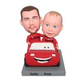 Custom Bobbleheads Carefree Road Trip Father And Son
