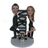 Mr.& Mrs Smith Pet On The Base Wedding Bobbleheads