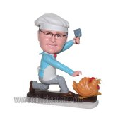 Killing Rooster Chef In Apron Customized Bobblehead Doll