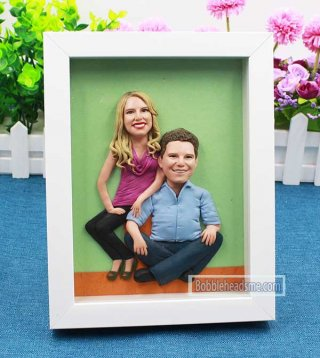 Fully custom Frame doll lovers from photo 8-inch