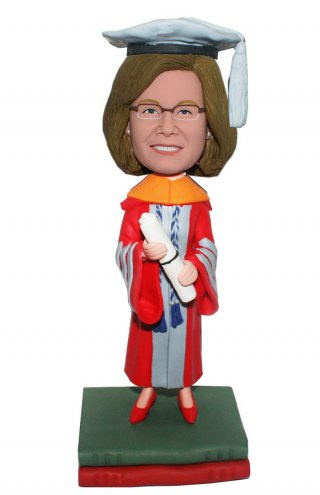Custom Bobblehead Dr Graduation Figurines