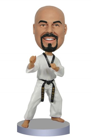 Custom Personal Bobble Heads Karate Doll