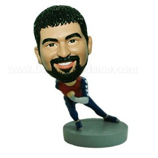 Skiing Man At Speed Custom Bobbleheads Doll