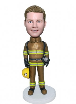 customized Firemen Bobble Heads From Photo