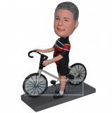 Occupation Racer Ready To Take Bike Custom Bobblehead Doll
