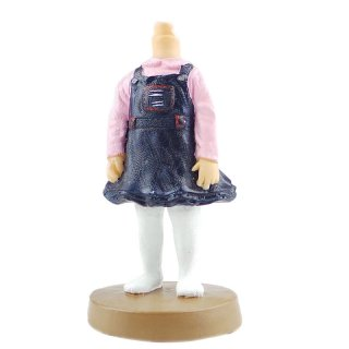Blue Denim Skirt White Pantihose Custom Child Bobbleheads