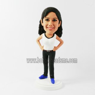 Akimo Female In Casual Dress Custom Bobbleheads