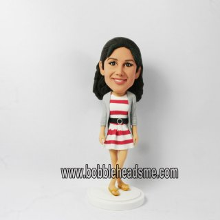 Custom Sriped Skirt Dress Female Bobbleheads