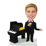 Formal Dress Male Next To The Piano Customized Bobblehead