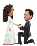 Custom Wedding bobbleheads Groom Proposing To Bride